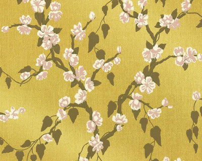 Little Greene Sakura Yellow Lustre 0247SAYELLO Wallpaper