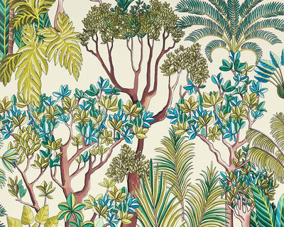 Manuel Canovas Morny Turquoise 03094-01 Wallpaper