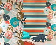Harlequin Bella Stripe Tangerine/Lemon/Fuchsia 111507 Wallpaper