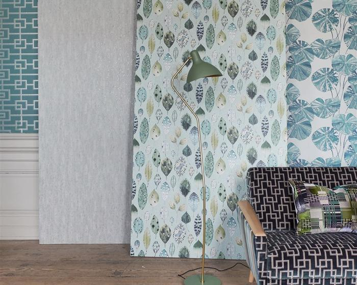 Designers Guild Shirakawa Zinc PDG1063/04 Wallpaper
