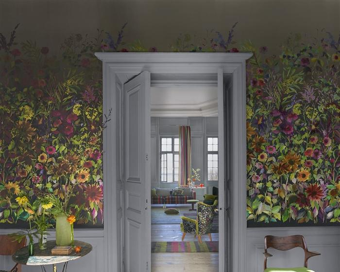 Designers Guild Indian Sunflower Graphite PDG1068/01 Wallpaper