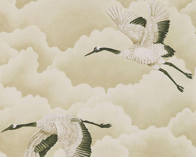 Harlequin Cranes In Flight Pebble 111231 Wallpaper