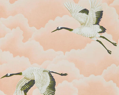 Harlequin Cranes In Flight Blush 111232 Wallpaper