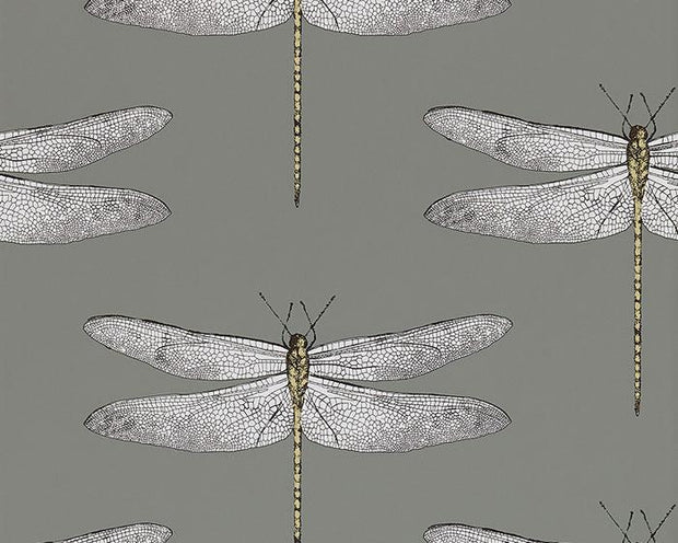 Harlequin Demoiselle Graphite/Almond 111242 Wallpaper