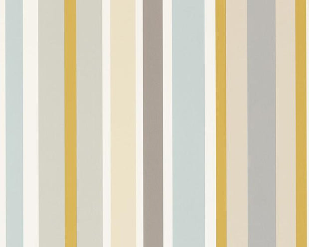 Scion Jelly Tot Stripe Slate/Biscuit/Maize 111262 Wallpaper