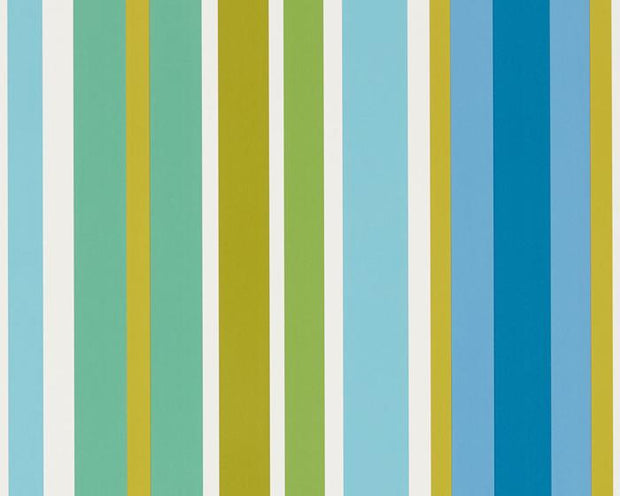 Scion Jelly Tot Stripe Citrus/Lagoon/Sky 111263 Wallpaper