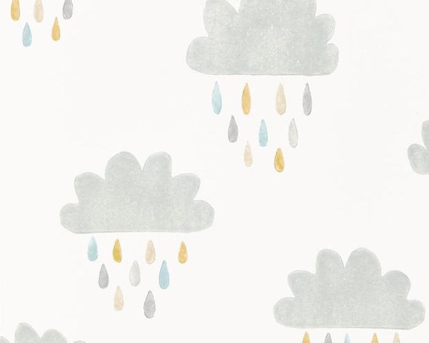 Scion April Showers Slate/Pickle/Paper 111268 Wallpaper