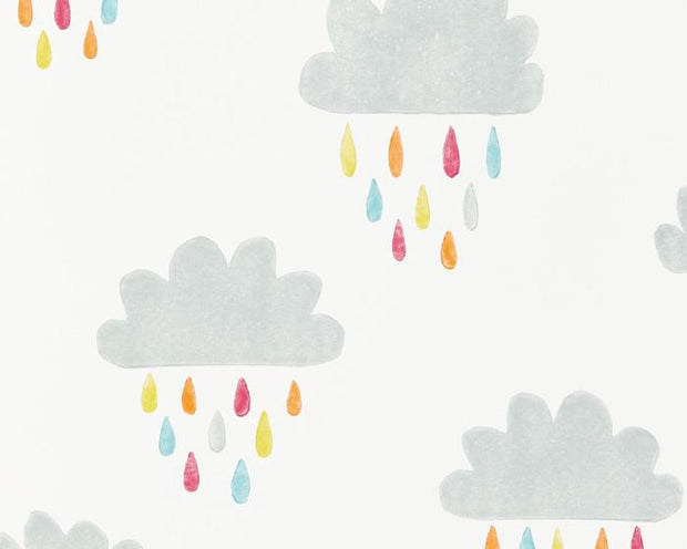 Scion April Showers Citrus/Lagoon/Poppy 111269 Wallpaper