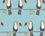 Scion Terry Toucan Honey/Charcoal/Sky 111271 Wallpaper