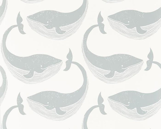 Scion Whale of a Time Slate/Parchment 111272 Wallpaper