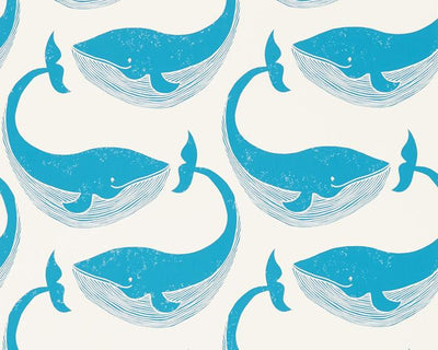 Scion Whale of a Time Ocean/Parchment 111273 Wallpaper