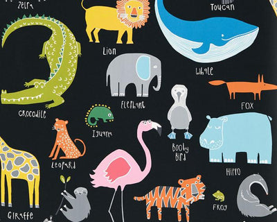 Scion Animal Magic Tutti Frutti/Black Board 111288 Wallpaper
