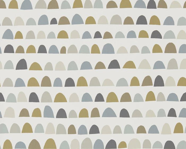 Scion Priya Charcoal/Fossil/Linen 111298 Wallpaper