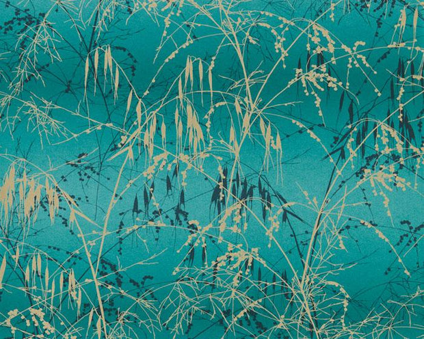 Harlequin Meadow Grass Ocean/Peacock 111404 Wallpaper