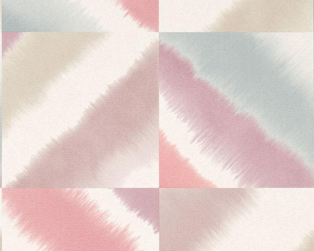 Harlequin Quadro Raspberry/Viola/Nordic Blue 111457 Wallpaper
