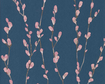 Harlequin Salice Rose/Navy 111471 Wallpaper