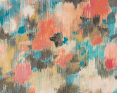 Harlequin Exuberance Coral/Turquoise 111476 Wallpaper