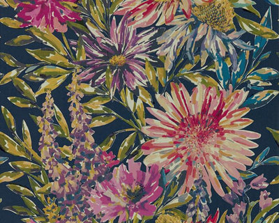 Harlequin Floreale Heather/Navy 111498 Wallpaper