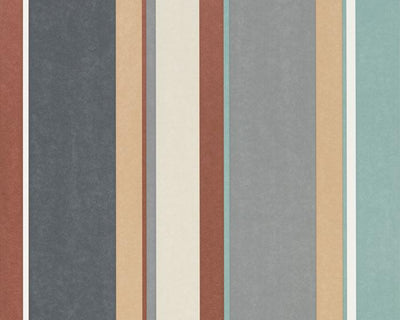 Harlequin Bella Stripe Sepia/Copper/Duckegg 111503 Wallpaper