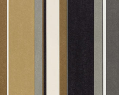 Harlequin Bella Stripe Ochre/Gold/Ebony 111504 Wallpaper