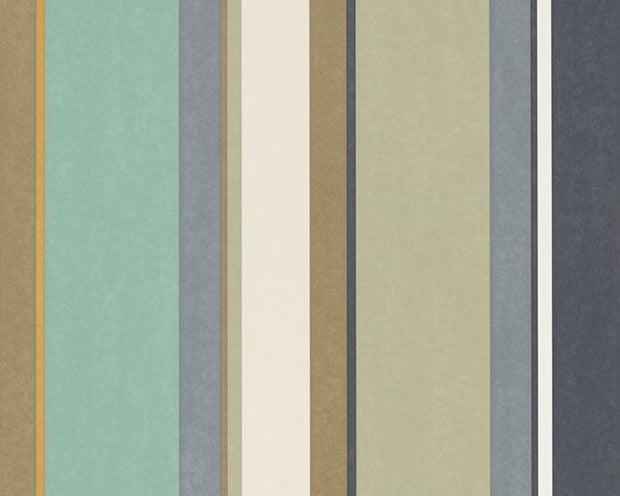 Harlequin Bella Stripe Olive/Gilver/Mint 111505 Wallpaper