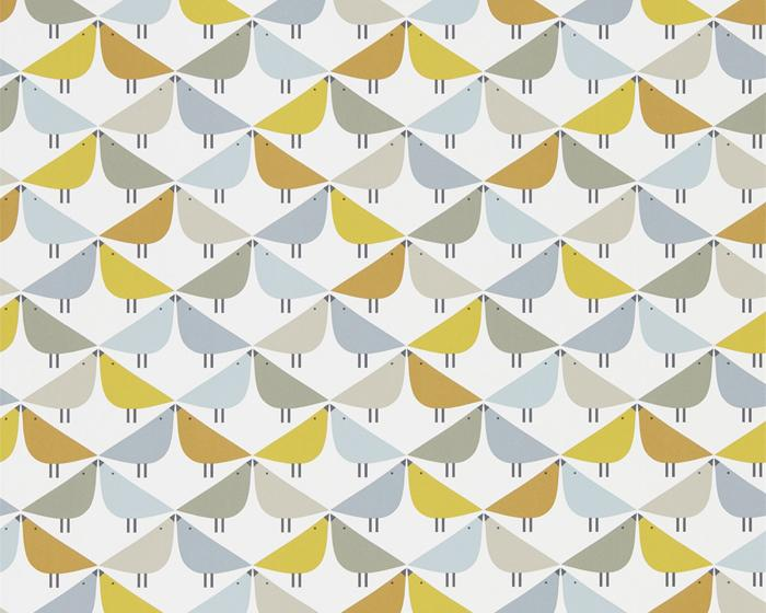 Scion Lintu Dandelion/Butterscotch/Pebble 111522 Wallpaper