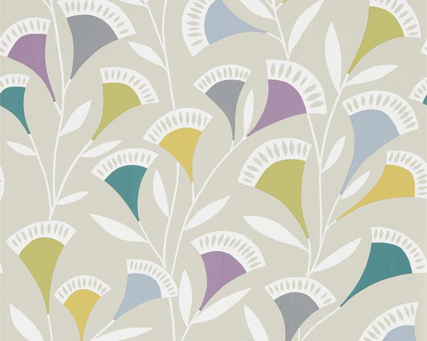 Scion Nokku Foxglove/Graphite/Forest 111547 Wallpaper