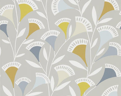 Scion Nokku Dandelion/Butterscotch/Charcoal 111549 Wallpaper
