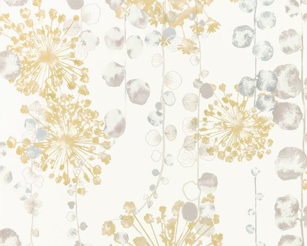 Harlequin Moku Ochre/Seaspray 111652 Wallpaper