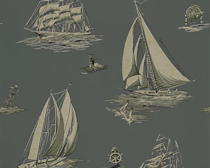 Ralph Lauren Down Easter Boats Fog PRL5024/01 Wallpaper