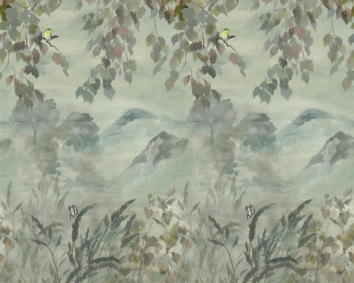 Designers Guild Miyako Scene 1 Dove PDG1111/01 Wallpaper