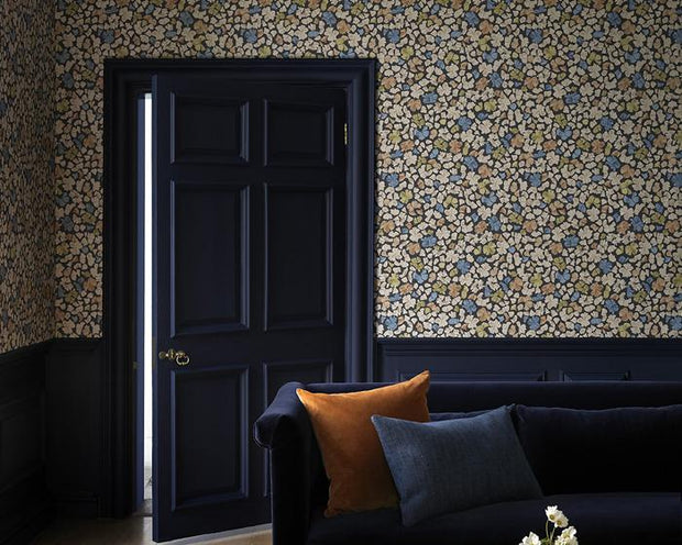 Paint & Paper Library Feather Flora Constantia Blue Wallpaper