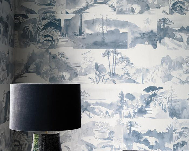 Paint & Paper Library Abbey Gardens Blue Blood  PPAGBB Wallpaper