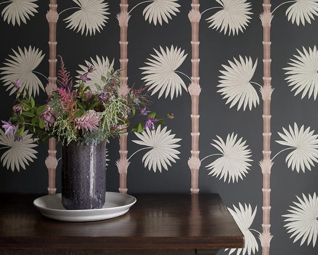 Paint & Paper Library Hardy Palm Perse Grey Wallpaper