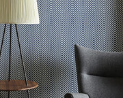 Barneby Gates Chevron in Ink Blue Wallpaper BG1400201
