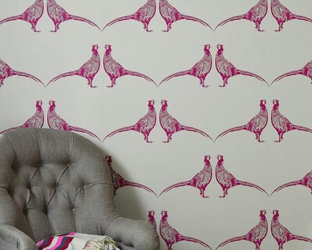 Barneby Gates Pheasant in Pink Wallpaper BG1500102