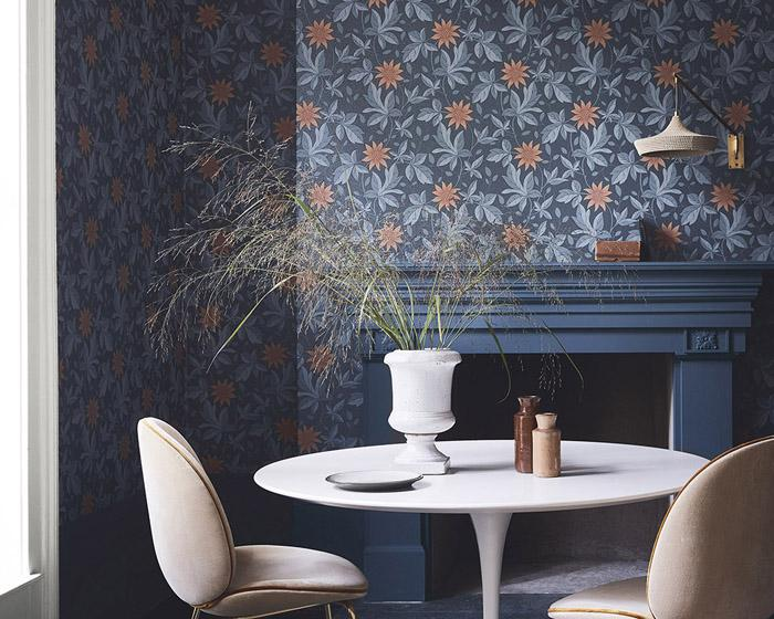 Little Greene Monroe Night Flower 0293MONIGHT Wallpaper