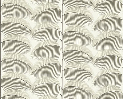 Sanderson Manila Charcoal/Cream 213368 Wallpaper