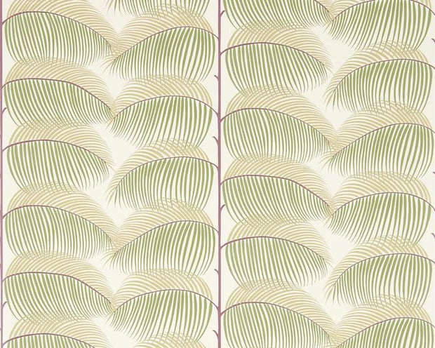 Sanderson Manila Mulberry/Sand 213370 Wallpaper