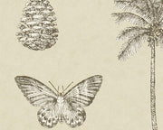 Sanderson Cocos Linen/Charcoal 213381 Wallpaper
