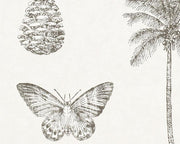 Sanderson Cocos Ivory/Charcoal 213384 Wallpaper