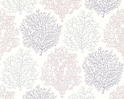 Sanderson Coral Reef Teal/Mauve 213392 Wallpaper