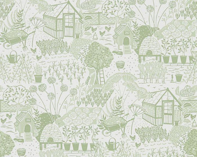 Sanderson The Allotment Fennel 216351 Wallpaper