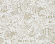 Sanderson The Allotment Linen 216353 Wallpaper