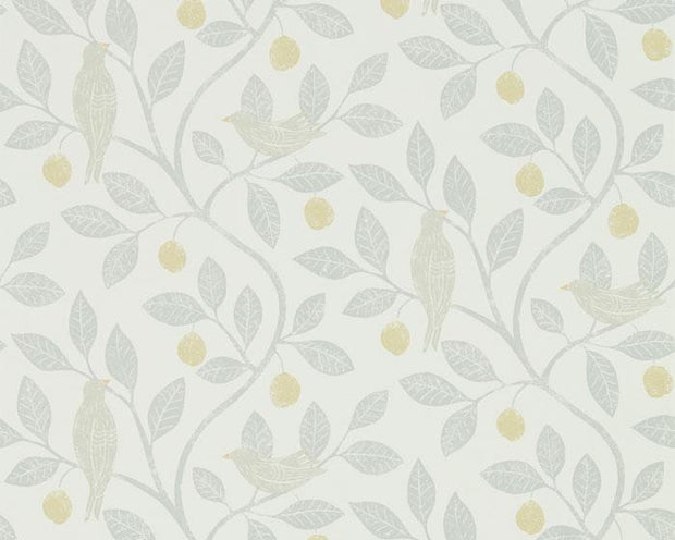 Sanderson Damson Tree Dijon/Mole 216363 Wallpaper