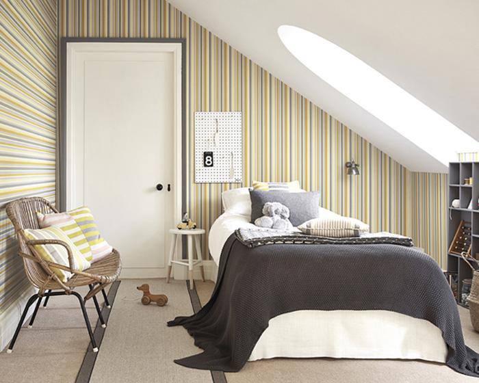 Little Greene Tailor Stripe Taupe 0286TATAUPE Wallpaper