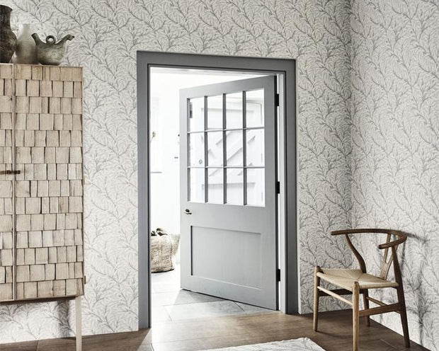 Morris & Co Willow Bough Charcoal/Black 216026 Wallpaper