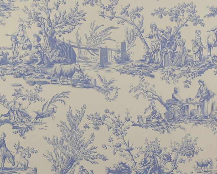 Manuel Canovas Bellegarde Bleu 03064/01 Wallpaper