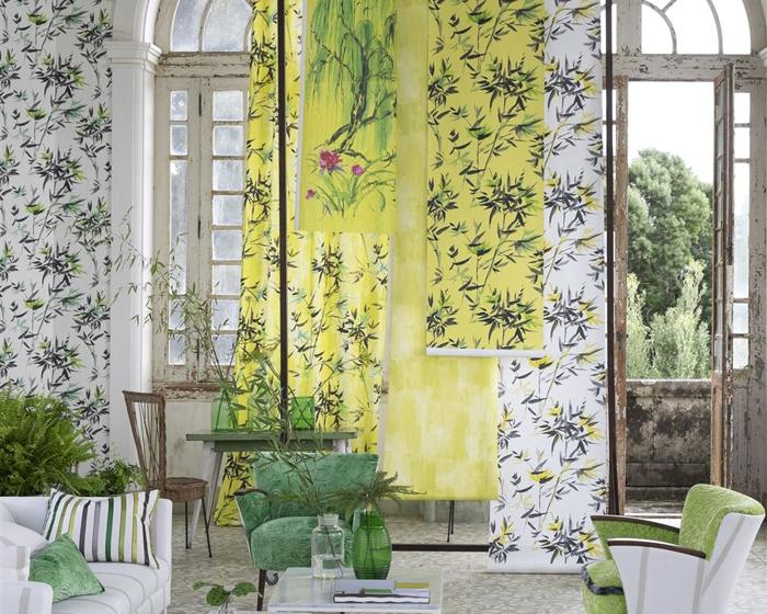 Designers Guild Bamboo - Lime PDG652/03 Wallpaper