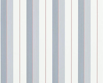 Ralph Lauren Aiden Stripe - Navy / Red / White PRL020/06 Wallpaper